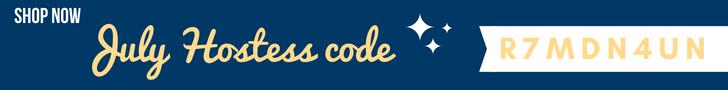 July Hostess code navy